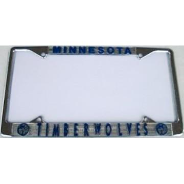 Minnesota Timberwolves Chrome License Plate Frame