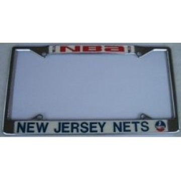 New Jersey Nets Chrome License Plate Frame