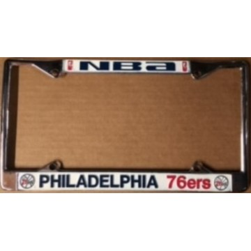 Philadelphia 76ers Chrome License Plate Frame