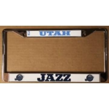 Utah Jazz Chrome License Plate Frame