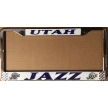 Utah Jazz Chrome License Plate Frame