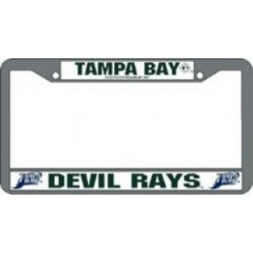 Tampa Bay Devil Rays Chrome License Plate Frame