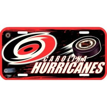 Carolina Hurricanes Plastic License Plate
