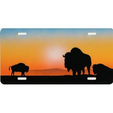 Bison / Buffalo Airbrush License Plate