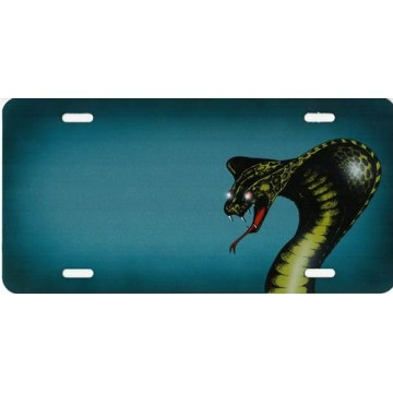 Cobra Offset Airbrush License Plate