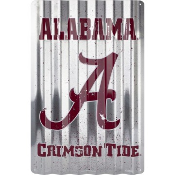 Alabama Crimson Tide Corrugated Metal Sign