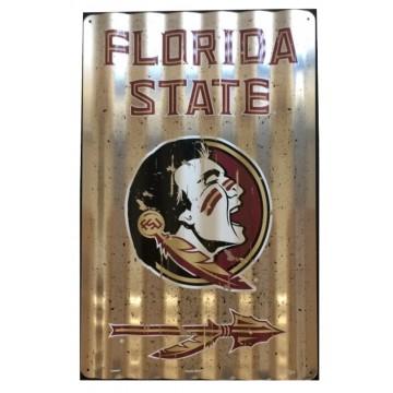 Florida State Seminoles Corrugated Metal Sign
