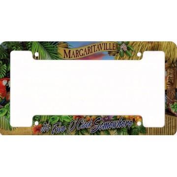 It's Five O'Clock Margaritaville Sunset License Plate Frame