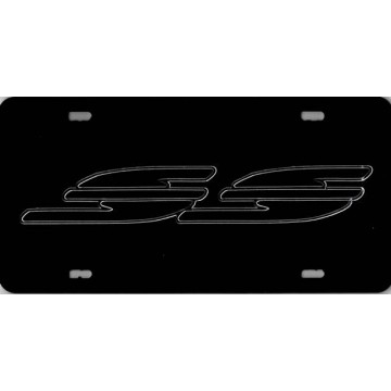 Chevrolet Caprice / Impala SS Black  Laser License Plate
