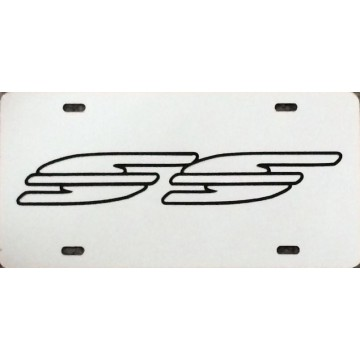 Chevrolet Caprice / Impala SS Silver Laser License Plate