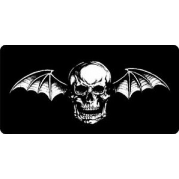 Avenged Sevenfold Deathbat Only Photo License Plate