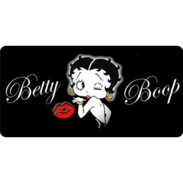 Betty Boop Kiss Photo License Plate