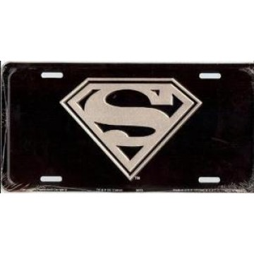 Superman Metal License Plate