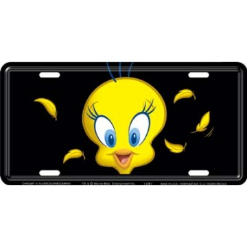 Tweety Bird Metal License Plate