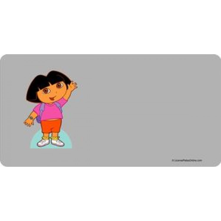 Dora the Explorer Photo License Plate