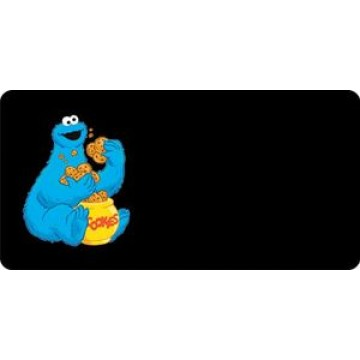 Cookie Monster Offset Photo License Plate