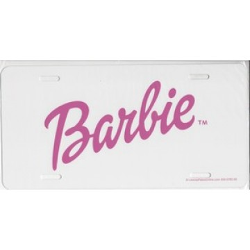 Barbie On White Photo License Plate