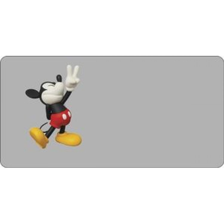 Mickey Mouse With Peace Sign Photo License Plate
