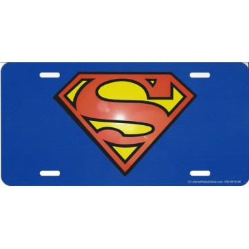 Superman Logo Photo License Plate
