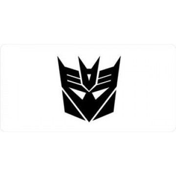 Decepticon Photo License Plate