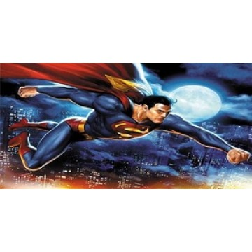 Superman Flying Photo License Plate