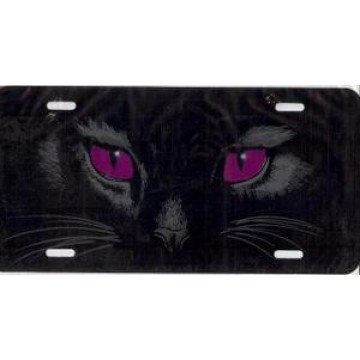 Cat Eyes (Red) Airbrush License Plate