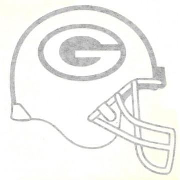 """Green Bay Packer Helmet Black 4"""" x 4"""" Decal"""