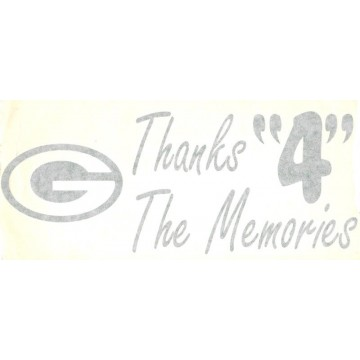 "Green Bay Packers  10"" x 5"" Decal"