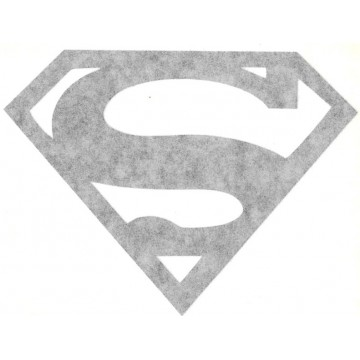 "Superman Logo Black 5"" x 4"" Decal"