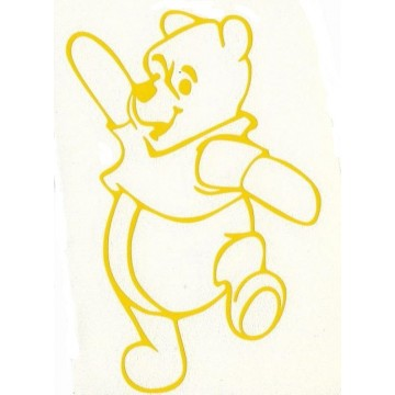 "Winnie The Pooh Yellow 3"" x 4"" Decal"