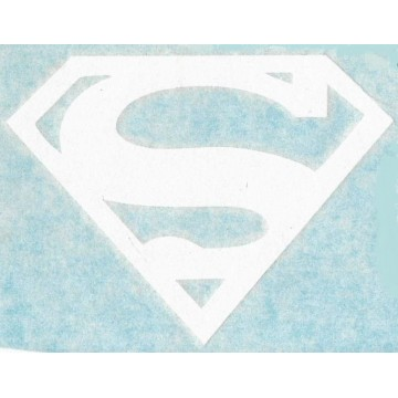 "Superman Logo White 6"" x 4"" Decal"