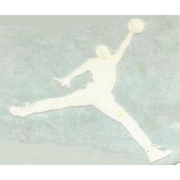 "Air Jordan White 5"" x 4"" Decal"
