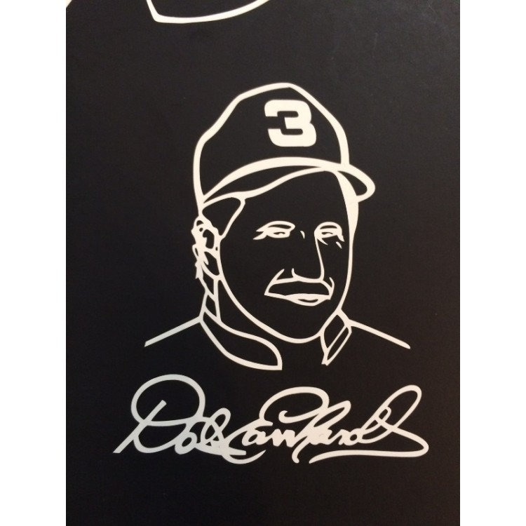 "Dale Earnhardt Face White 3"" x 4"" Decal"