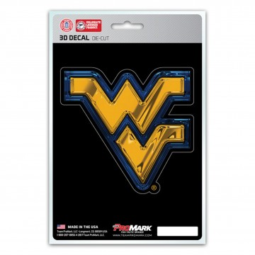 West Virginia Mountaineers Die Cut 3D Decal