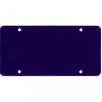 Dark Blue Acrylic Mirror License Plate