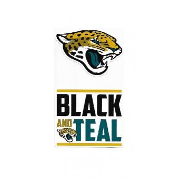 Jacksonville Jaguars Double Up Die Cut Vinyl Stickers