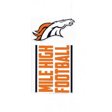 Denver Broncos Double Up Die Cut Vinyl Stickers