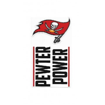 Tampa Bay Buccaneers Double Up Die Cut Vinyl Stickers