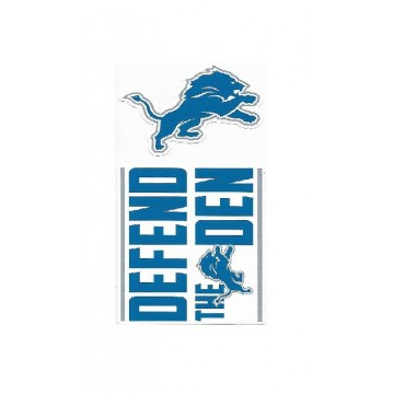Detroit Lions Double Up Die Cut Vinyl Stickers