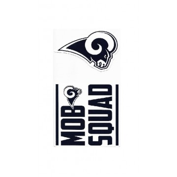 Los Angeles Rams Double Up Die Cut Vinyl Stickers
