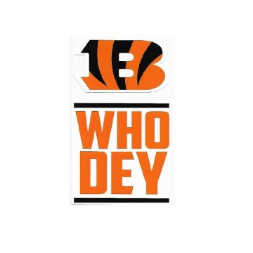 Cincinnati Bengals Double Up Die Cut Vinyl Stickers