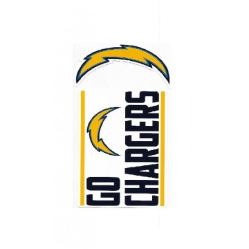 Los Angeles Chargers Double Up Die Cut Vinyl Stickers