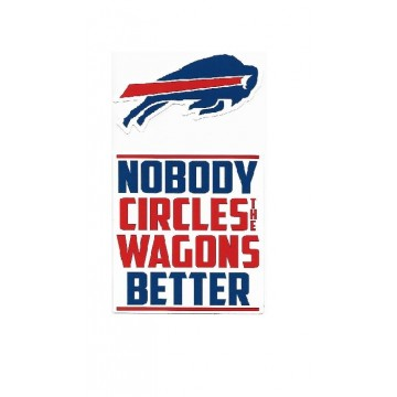Buffalo Bills Double Up Die Cut Vinyl Stickers