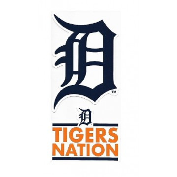 Detroit Tigers Double Up Die Cut Vinyl Stickers