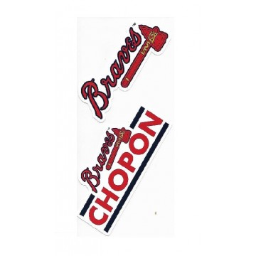 Atlanta Braves Double Up Die Cut Vinyl Stickers