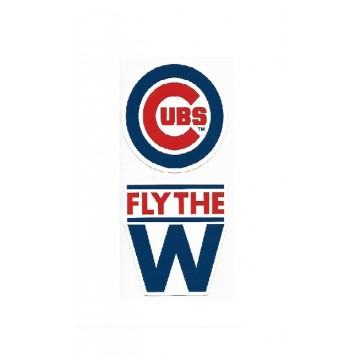 Chicago Cubs Double Up Die Cut Vinyl Stickers