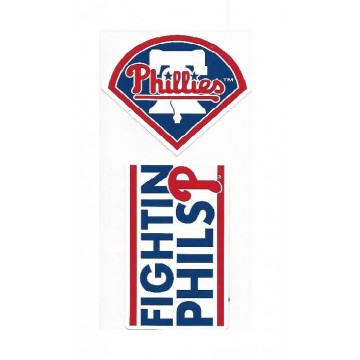 Philadelphia Phillies Double Up Die Cut Vinyl Stickers