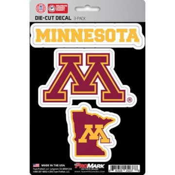 Minnesota Golden Gophers Team Decal Set