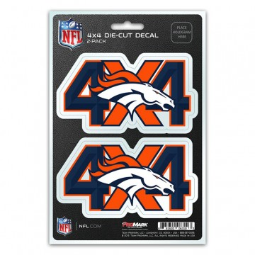 Denver Broncos 4x4 Decal Pack