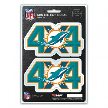 Miami Dolphins 4x4 Decal Pack